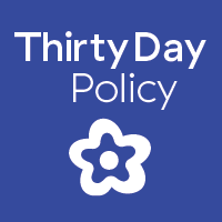 30 Day return policy badge